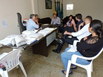 Reunião no Gab. do Prefeito